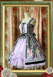 Classical Puppets Rose Bouquet Lolita Dress