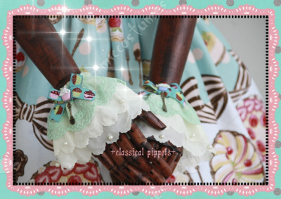 Classical Puppets Sweet Lolita Mint Lace Wrist Skirt