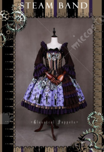 Classical Puppets Steam Band Lolita Dress