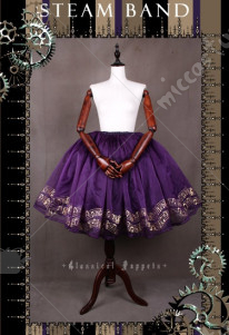 Classical Puppets Steam Band Musical Notes Lolita Skirt Petticoat Four Colors