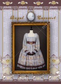 Classical Puppets Royal Carousel Long Sleeve Lolita Dress