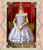 Classical Puppets A Line Round Collar Short Sleeve Lace Lolita Dress