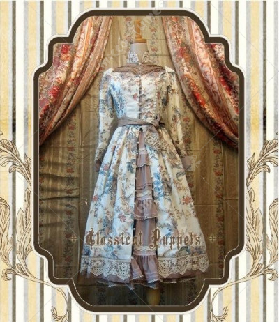 Classical Puppets Garden Series Classic Victoria Styled Front Opening Lolita Dress