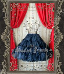 Classical Puppets Organdy Layered Lined Gothic Lolita Petticoat