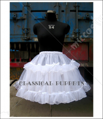 Classical Puppets Princess Like Organdy Layered Lined Sweet Lolita Petticoat
