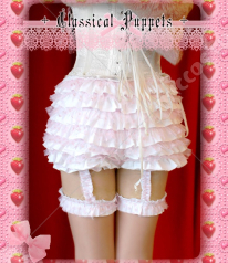 Classical Puppets Sweet Bowknot Cotton Lace Lolita Bloomers