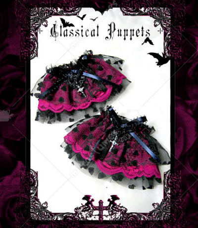 Classical Puppets gothic rose purple lace lolita wrist skirt