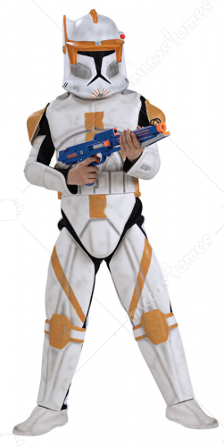 Star Wars Animated Deluxe Clone Trooper Commander Cody Child Costume