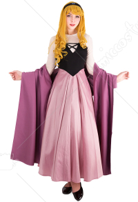 Sleeping Beauty Princess Maiden Dress Cosplay Costume with Corset and Cape Inspired by Princess Aurora