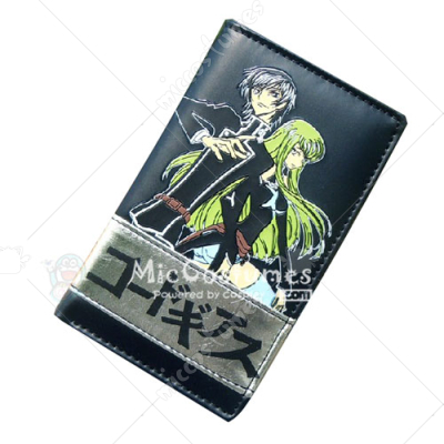 Code Geass Bifold Long Wallet Black