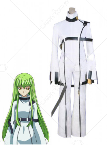 Code Geass C C White Cosplay Costume