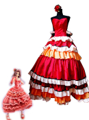 Code Geass Kallen Stadtfeld Red Cosplay Dress