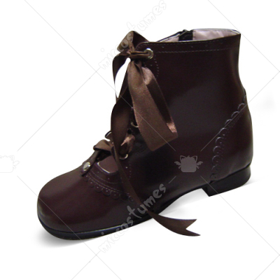 Coffee Ribbon Lolita Ankle Boots