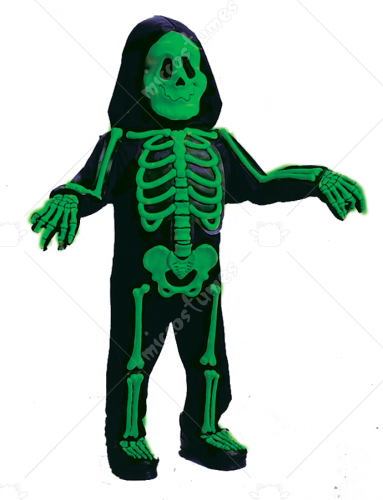 Color Bones Green Toddler Costume