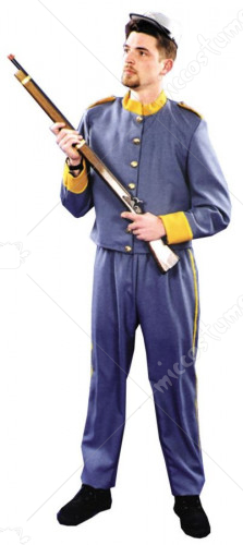 Confed Enlisted Uniform Adult Costume