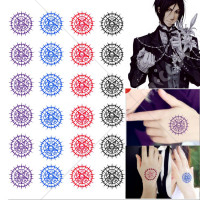 Black Butler Sebastian Michaelis Cosplay Tattoo Sticker Set of Two