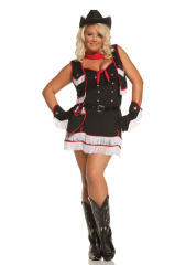 Cowgirl Cutie Adult and Teen Plus Costume