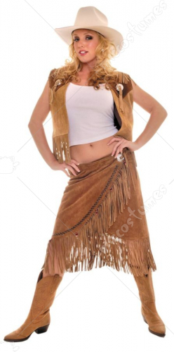 Cowgirl Vest Skirt Set Costume