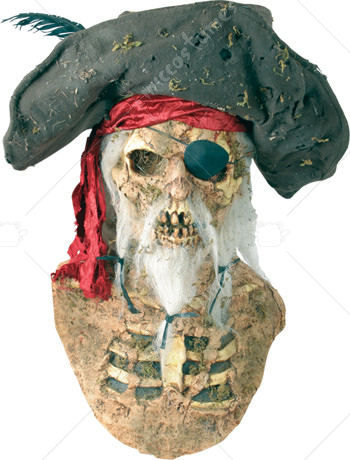 Creepy Zombie Pirate Mask