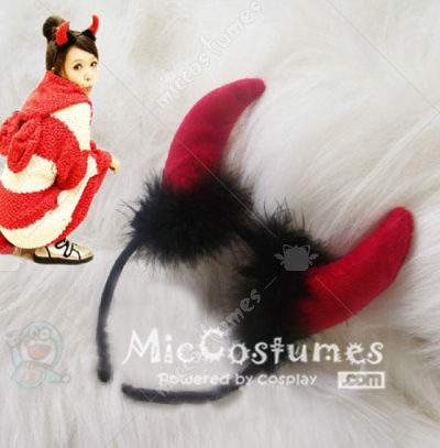 Cute Devil Hair Clip For Cosplay