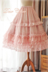 Dear Celine Chiffon Lace Long Lolita Skirt Petticoat Three Colors