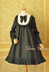 Dear Celine School Stripe Lolita Dress