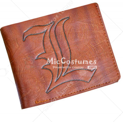 Death Note L Bifold Wallet Brown