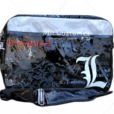 Death Note L Black Shoulder Bag Burnished Leather
