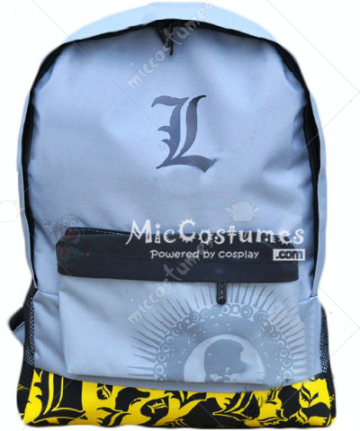 Death Note L Silver Grey School Bag
