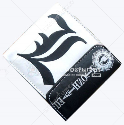 Death Note L Snap Fastener Wallet White