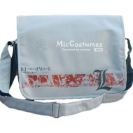 Death Note L White Shoulder Bag Nylon