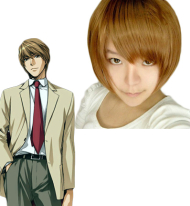 Death Note Light Yagami Brown Cosplay Wig