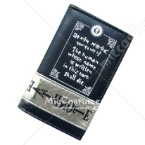 Death Note Scripts Bifold Long Wallet Black