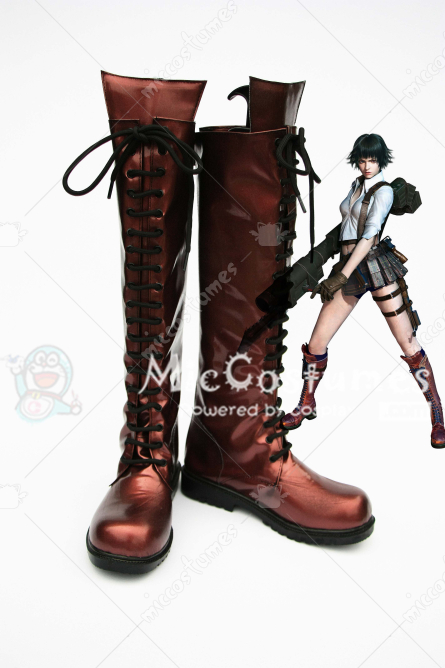 Devil May Cry 3 Dantes Awakening Lady Cosplay Boots