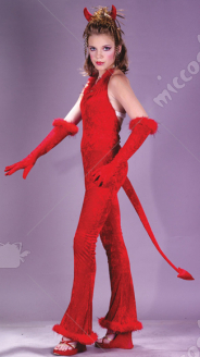 Devilish Devil Velvet Teen Costume