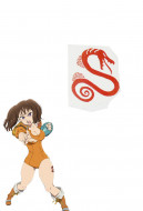 The Seven Deadly Sins Diane Cosplay Tattoo Sticker