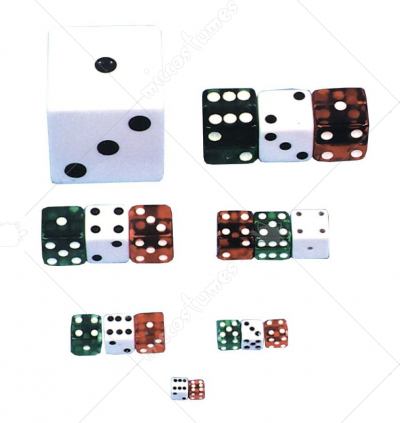 Dice 3 4 Inch Green 1 Die