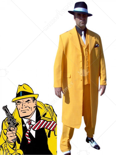 Dick Tracy Yellow Cosplay Costume