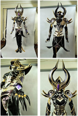 Exclusive Handmade League of Legends Syndra the Dark Sovereign Cosplay Costume Armor Set