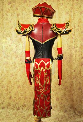 Exclusive Handmade World of Warcraft Scarlet Monastery High Inquisitor Sally Whitemane Female Cosplay Costume Armor Set