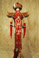 Exclusive Handmade World of Warcraft Scarlet Monastery High Inquisitor Sally Whitemane Female Cosplay Costume Armor Set
