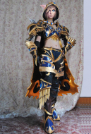 Exclusive Handmade World of Warcraft Heroes of the Storm Sylvanas Windrunner Ranger-General Cosplay Costume with Armor Set