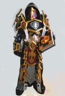 Exclusive Handmade World of Warcraft Heroes of the Storm Knight Tier 2 Uther Judgement Skin Cosplay Costume Armor Set