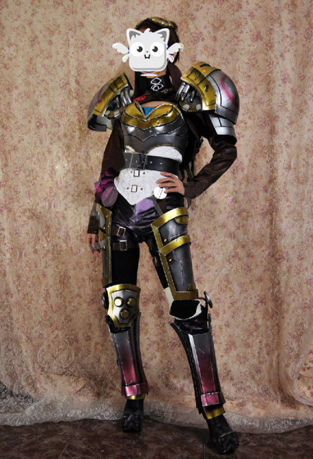 Exclusive Handmade League of Legends Vi the Piltover Enforcer Cosplay Costume Armor Set