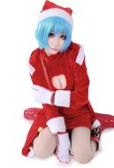Neon Genesis Evangelion Rei Ayanami Christmas Cosplay Costume