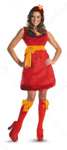 Elmo Adult Sassy Female Costume
