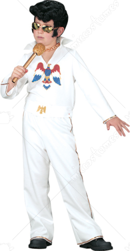 Elvis Child White Jumpsuit Costume