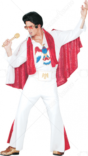 Elvis Deluxe Jumpsuit Adult Costume