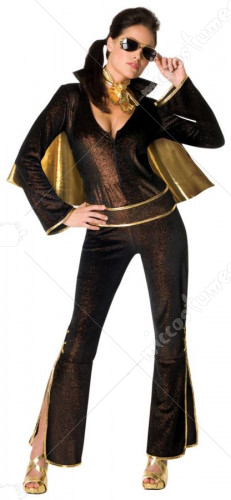 Elvis Female Black Costume