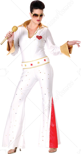 Elvis Female Jumpsuit Costume